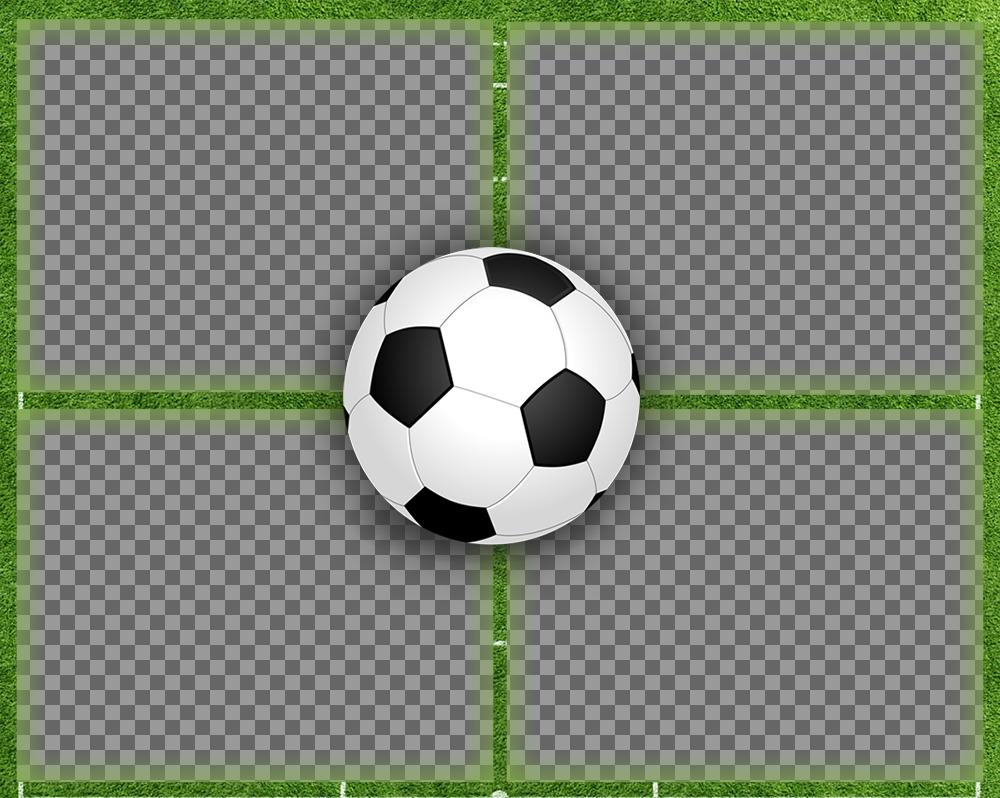Collage para cuatro fotos perfecto para amantes del fútbol