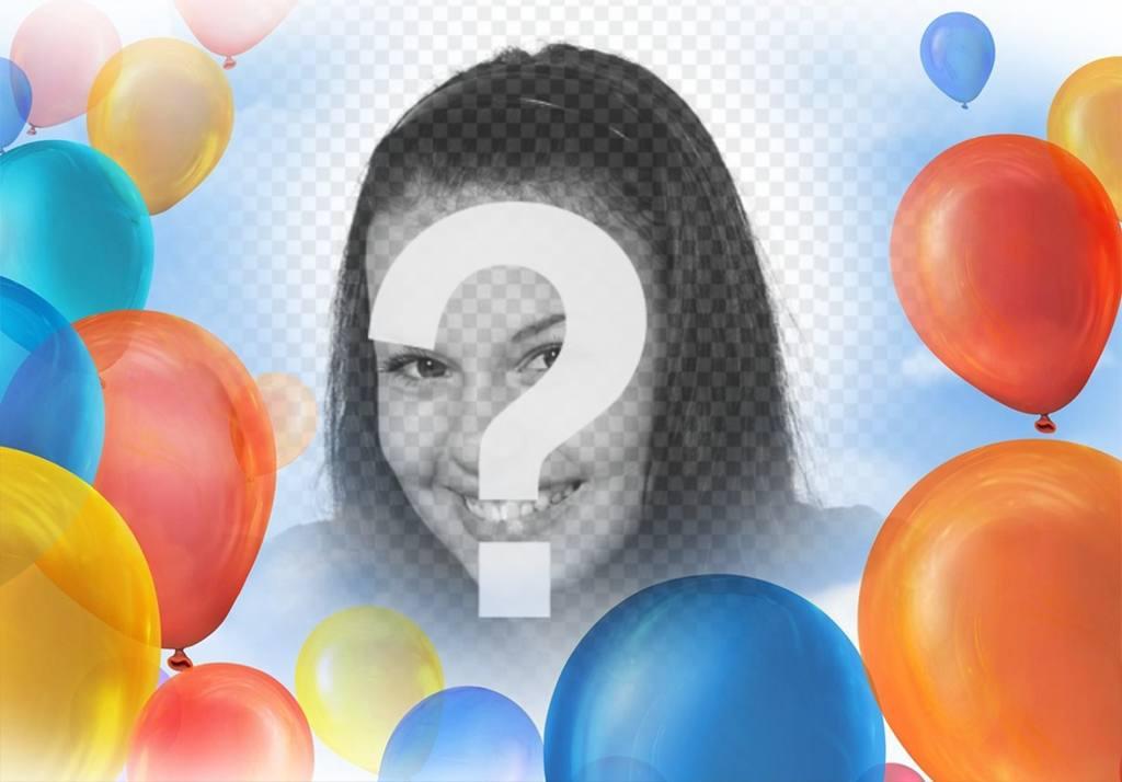 Fotomontaje con globos para decorar tus imágenes gratis