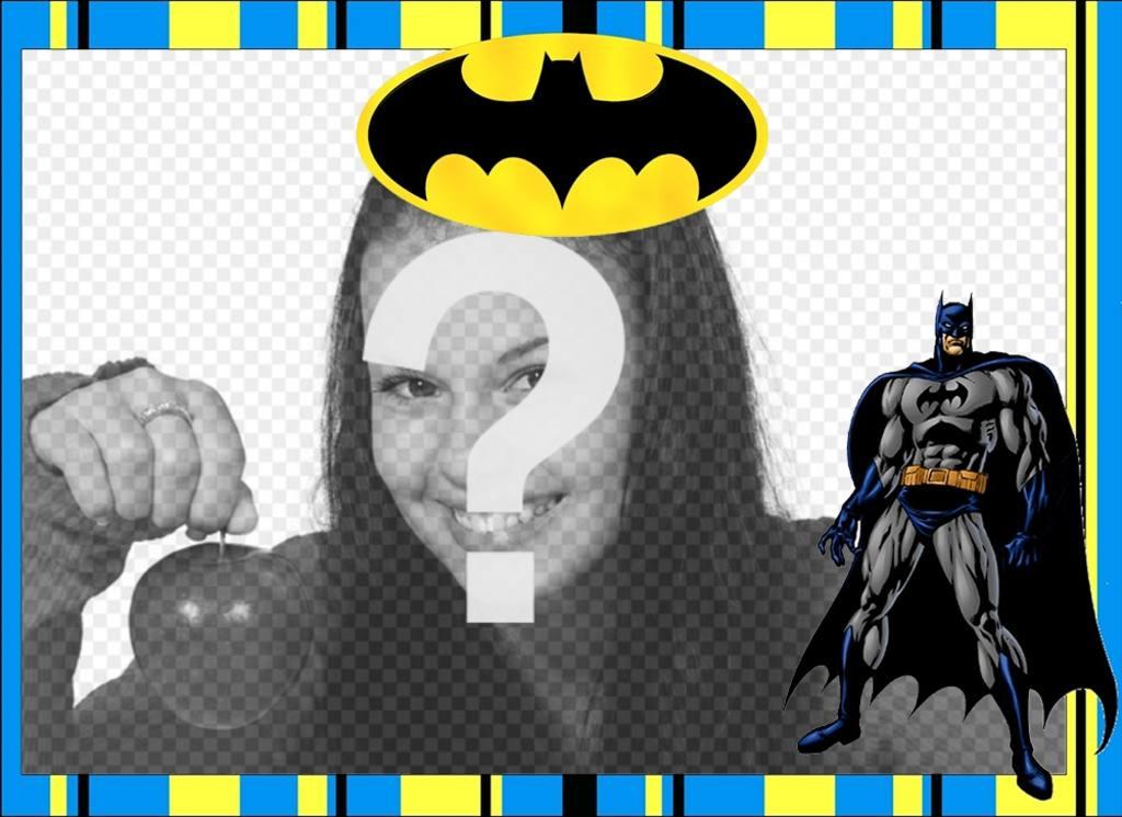 Marco gratis de Batman para personalizar con tus fotos - Fotoefectos