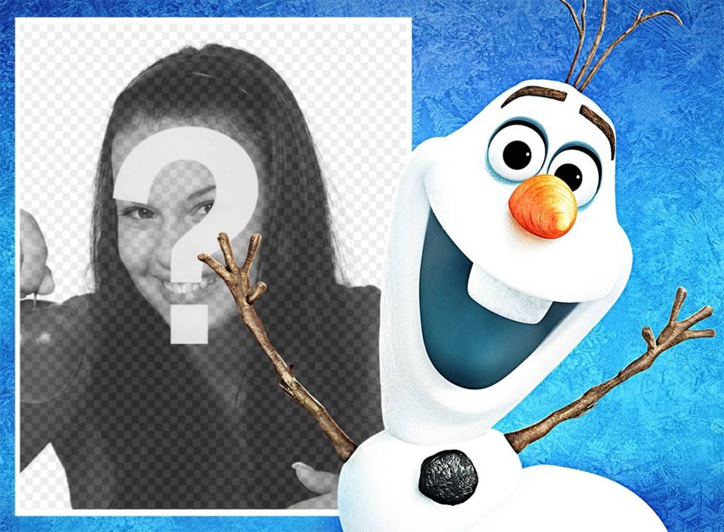 fotomontaje foto olaf pelicula animada frozen