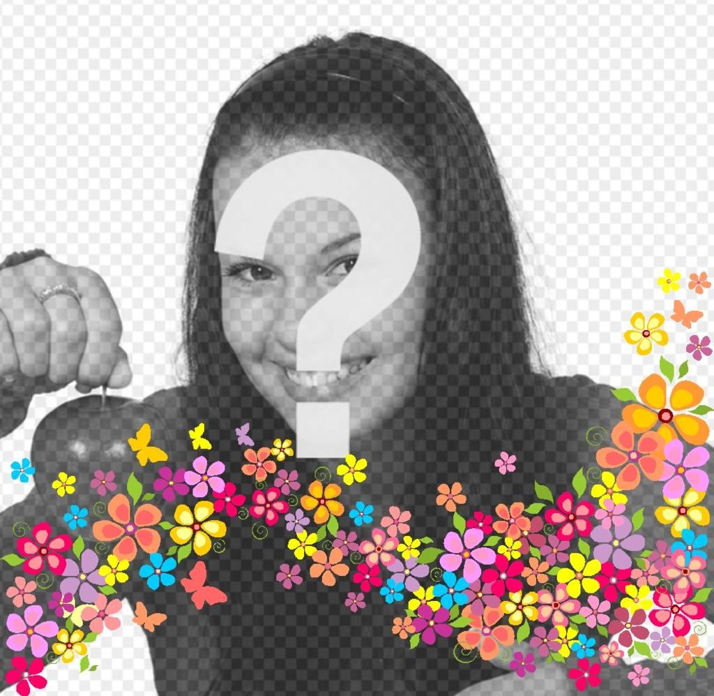 anade flores decorativas fotos subiendolas efecto online