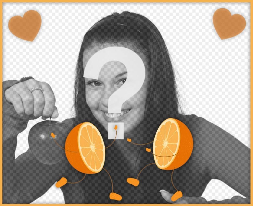 Marco para editar y poner una foto con tu media naranja - Fotoefectos