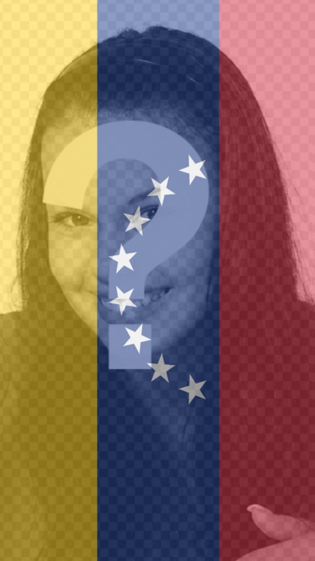 Fotomontaje con la bandera de Venezuela para poner de fondo en tu móvil