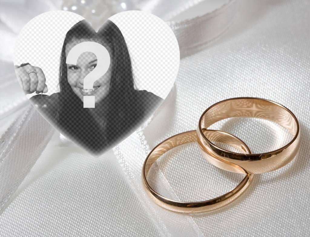 especial foto efecto comprometidos anillos oro