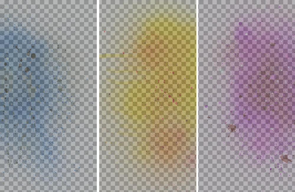 Collage original para tres fotos con filtro de pintura en spray