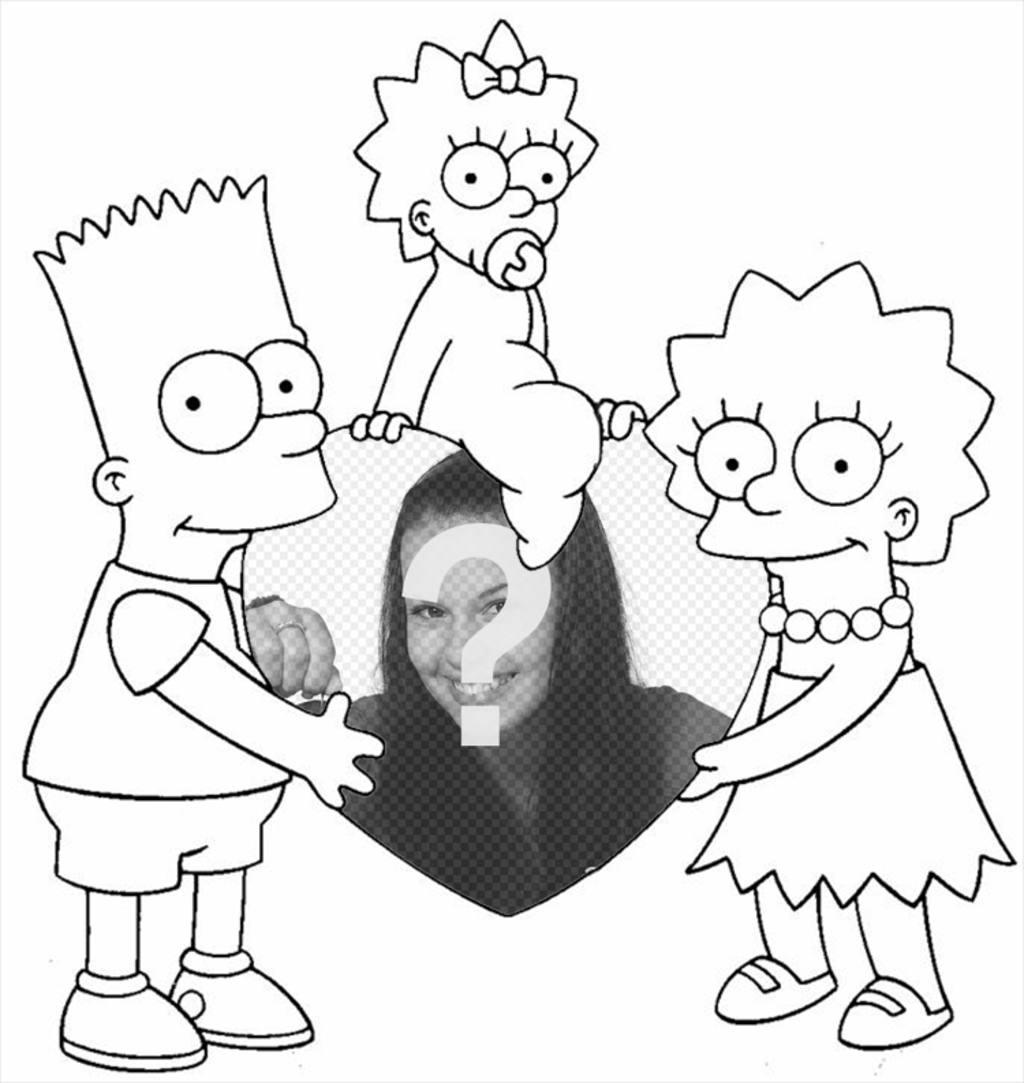 Fotomontaje Para Colorear De Los Simpson Donde Puedes Añadir