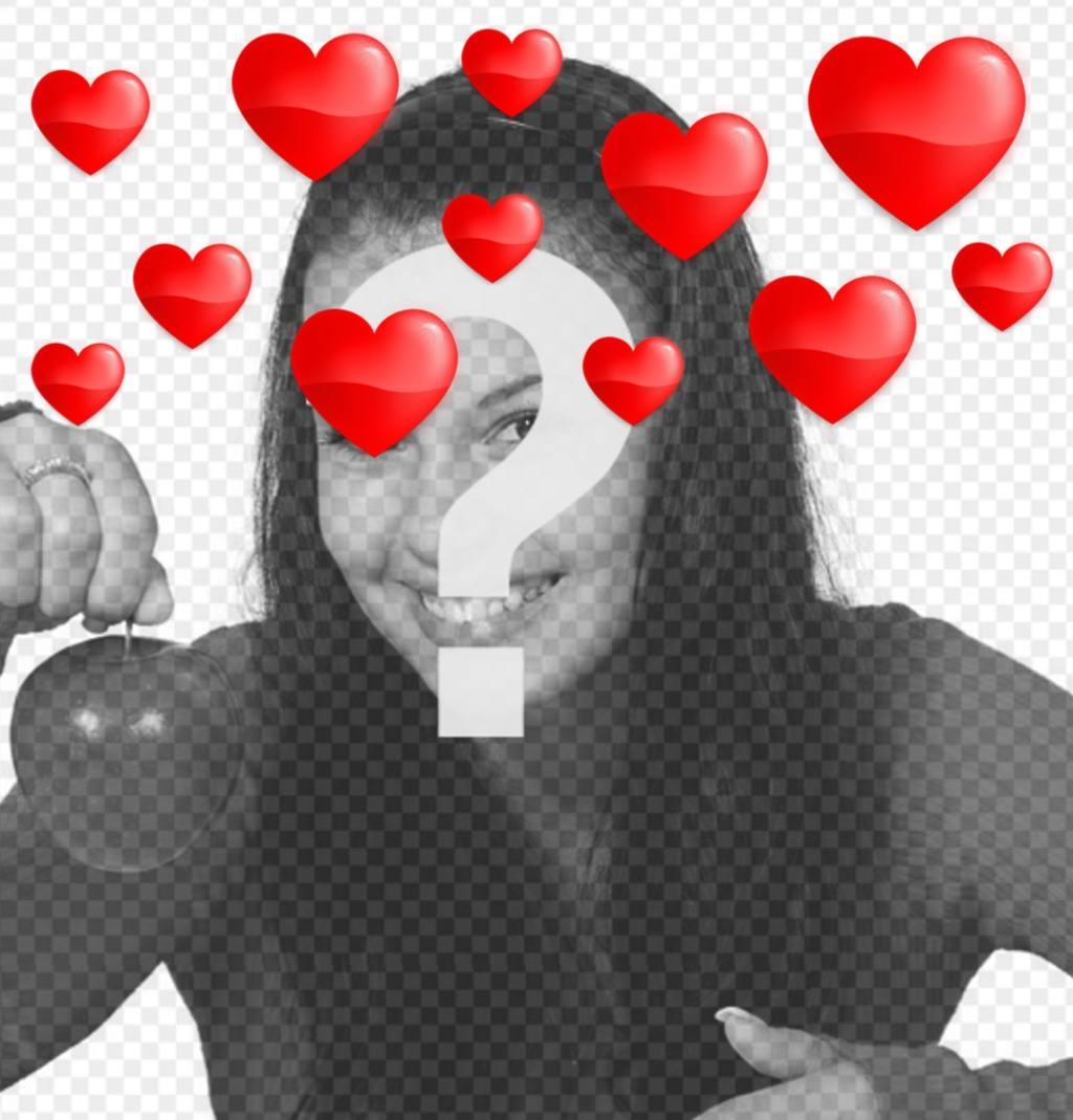 corazones flotando fotos efecto romanticos