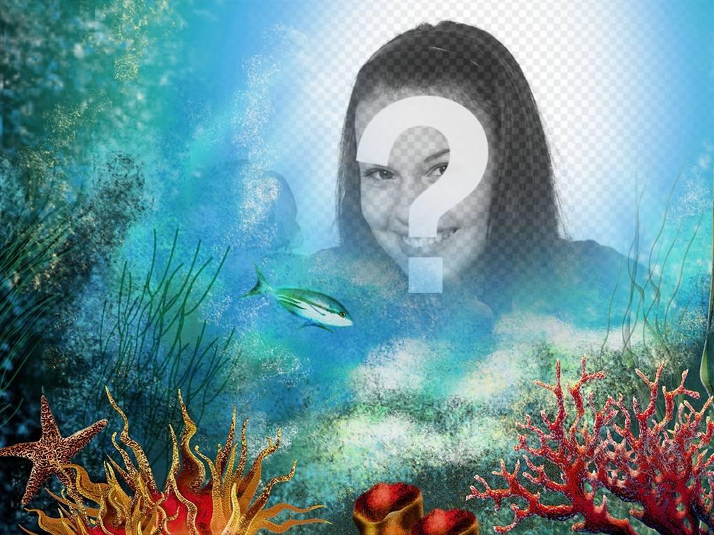 Haz un viaje al fondo del mar subiendo tu foto a este efecto online