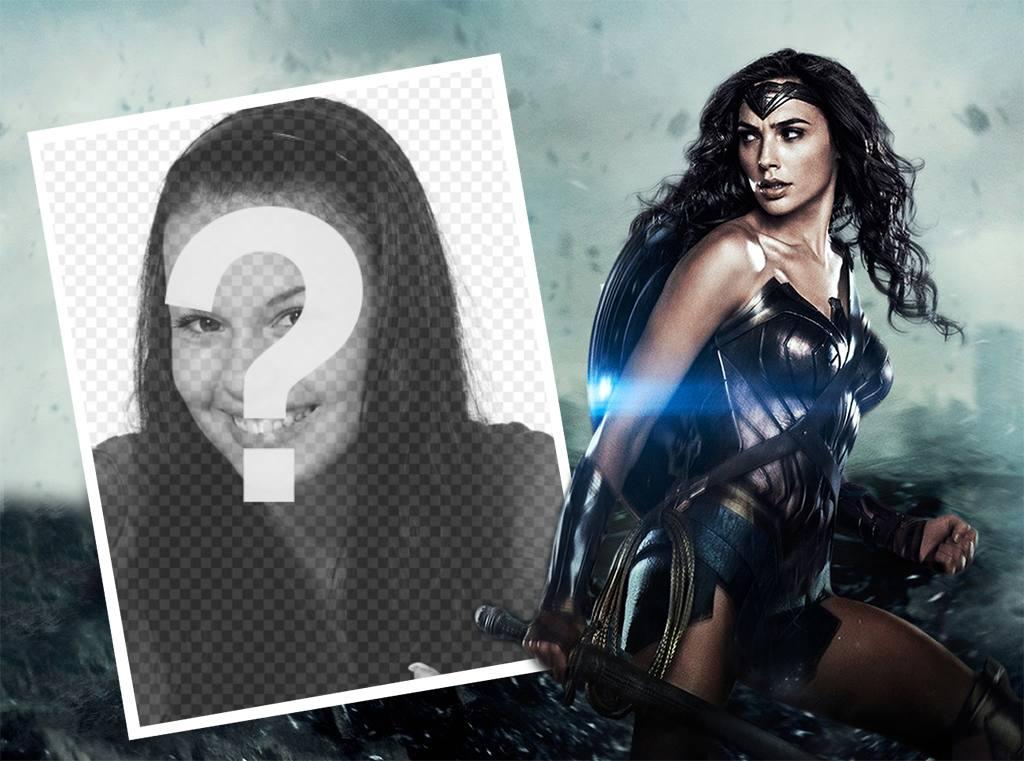 fotomontaje personalizar foto nueva mujer maravilla