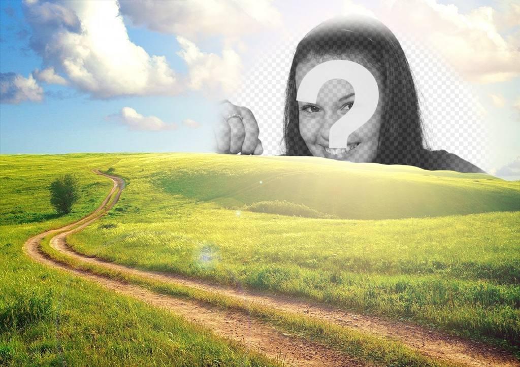paisaje rural puedes editar poner foto sol gratis