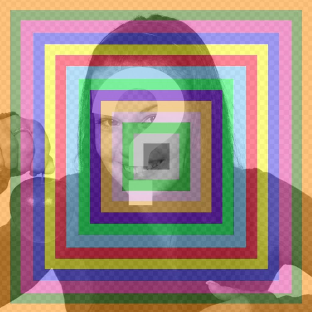 Añade cuadros de colores encima de tus fotos como un filtro online ...