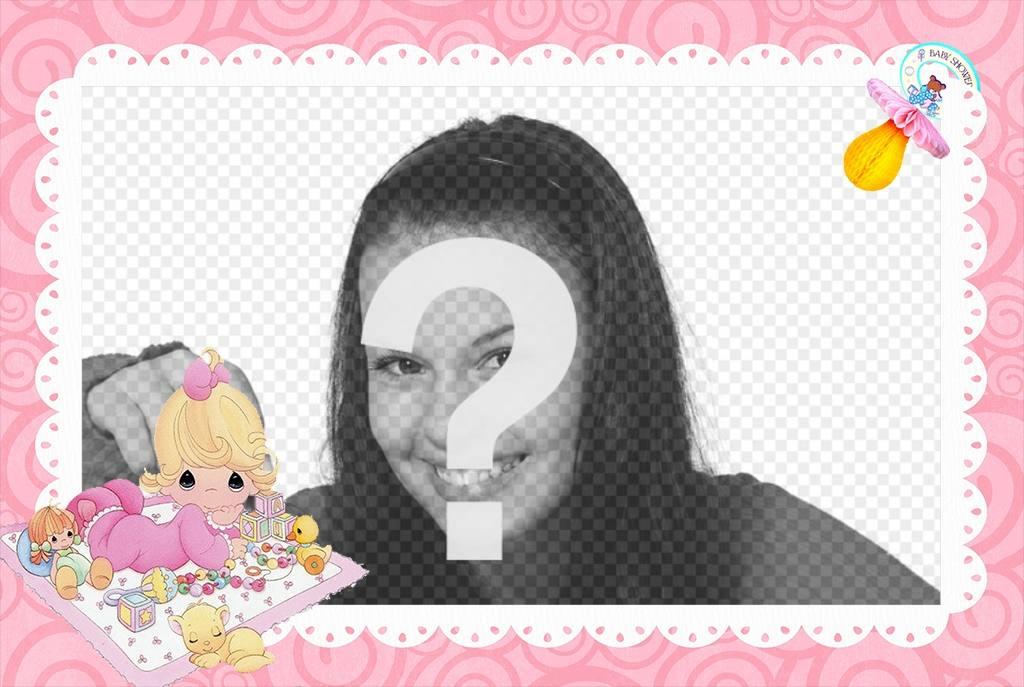 marco decorativo fotos bebe puedes imprimir
