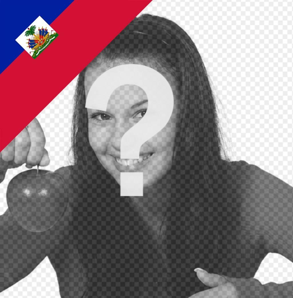 pon esquina fotos bandera haiti efecto online