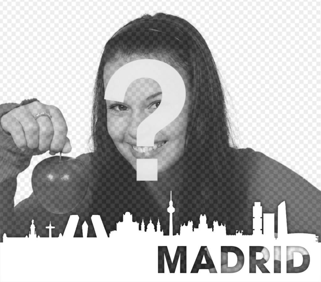 silueta ciudad madrid editar foto gratuitamente