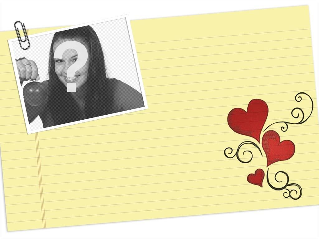 carta amor puedes editar subiendo alguna fotos e imprimir