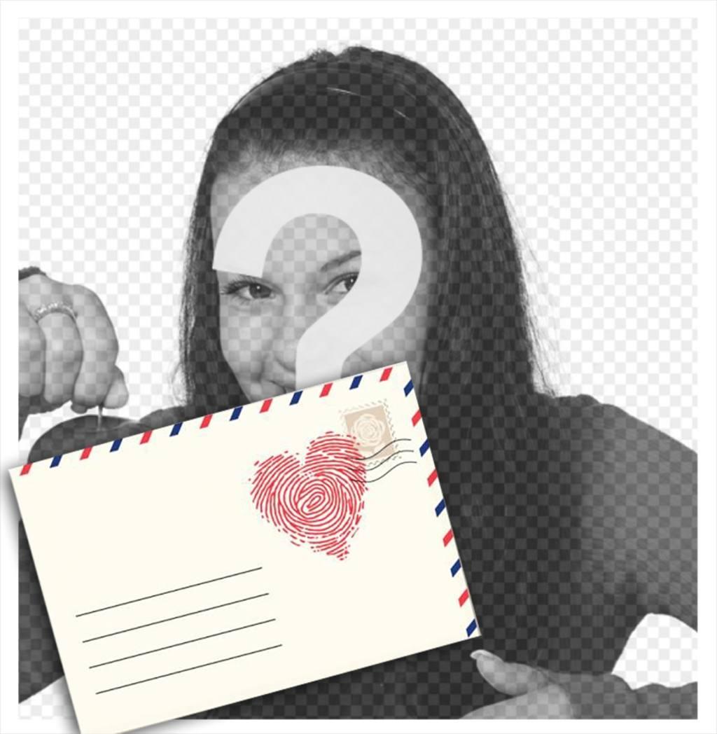 fotomontaje carta amor modificar foto online