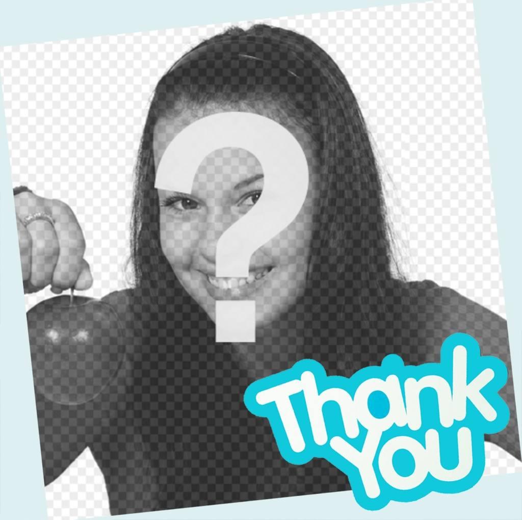 tarjeta decir thank u editar foto online