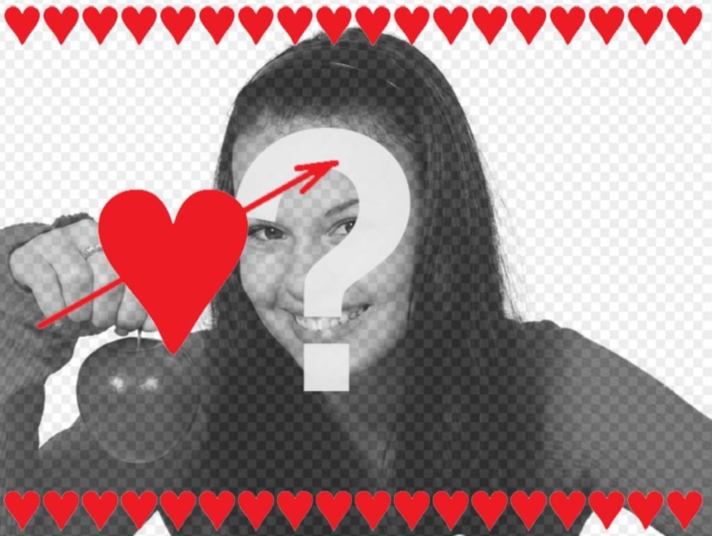 tarjeta enamorados corazones puedes anadir foto