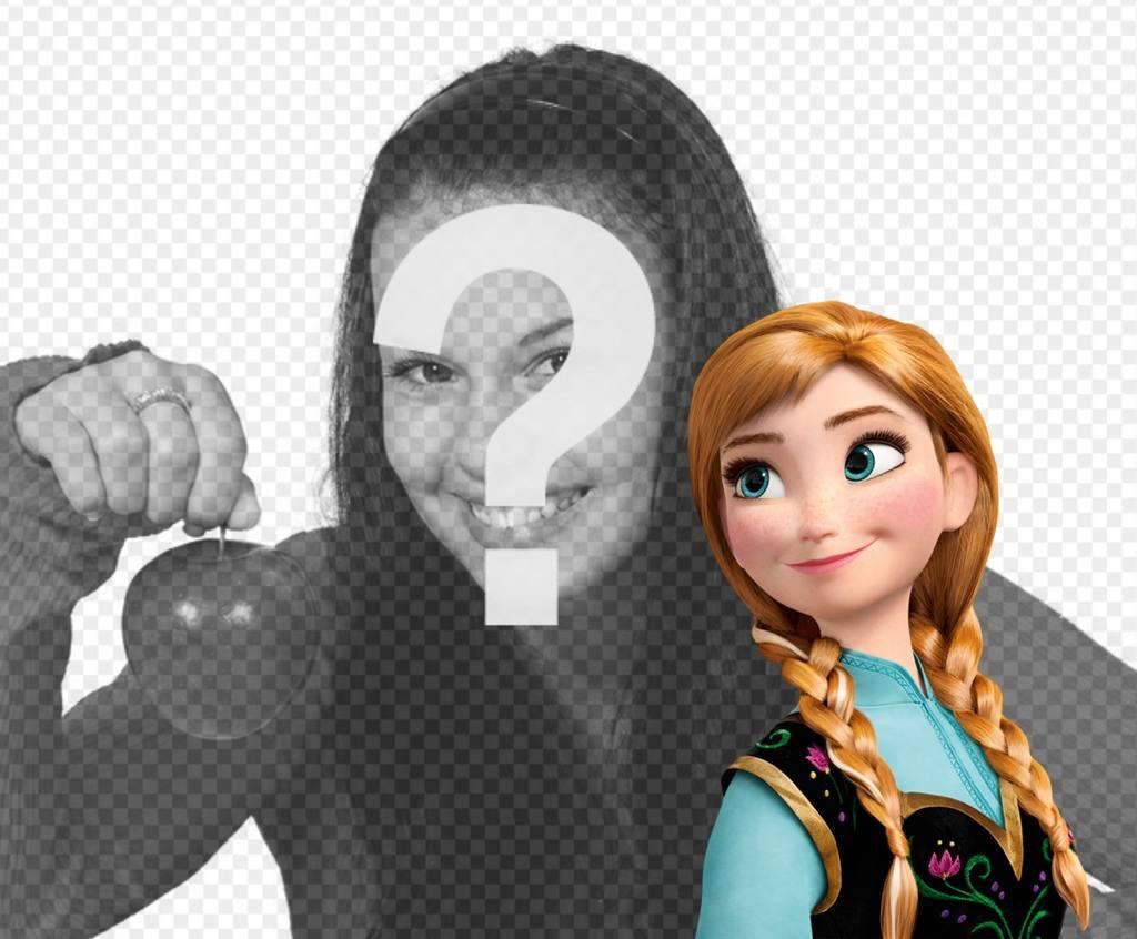 princesa anna frozen fotos montaje gratis