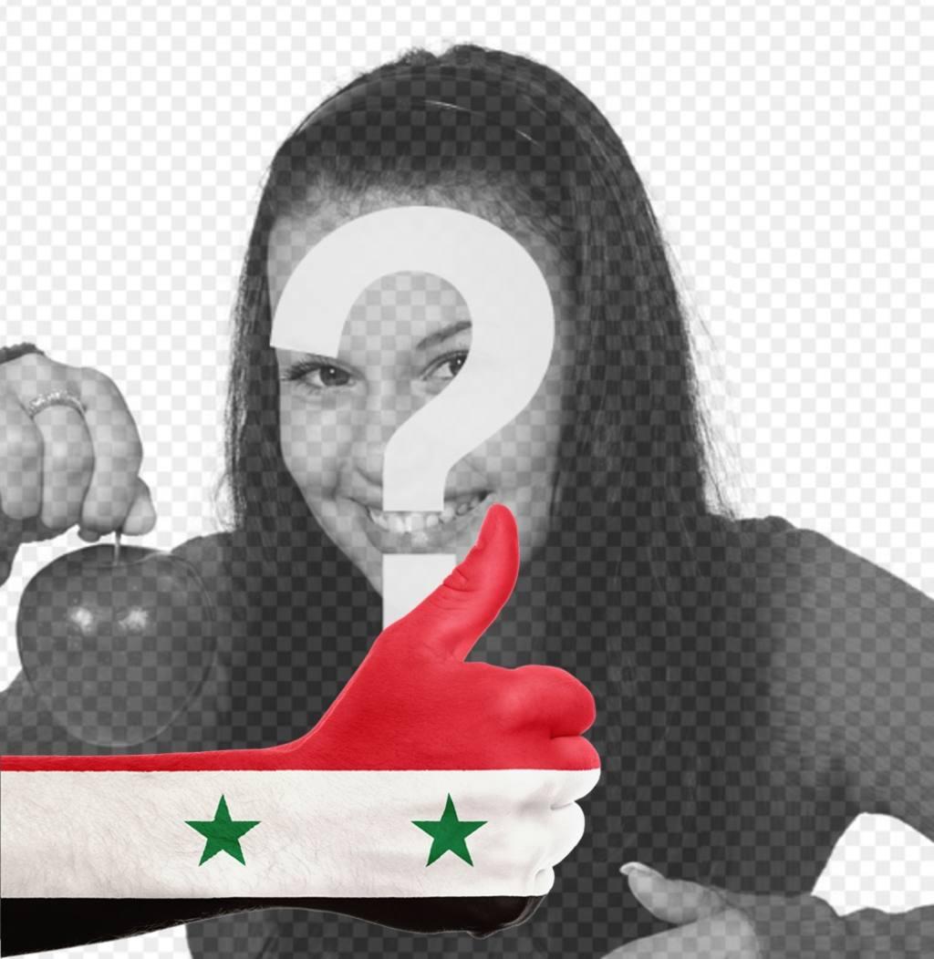mano bandera siria anadir foto online