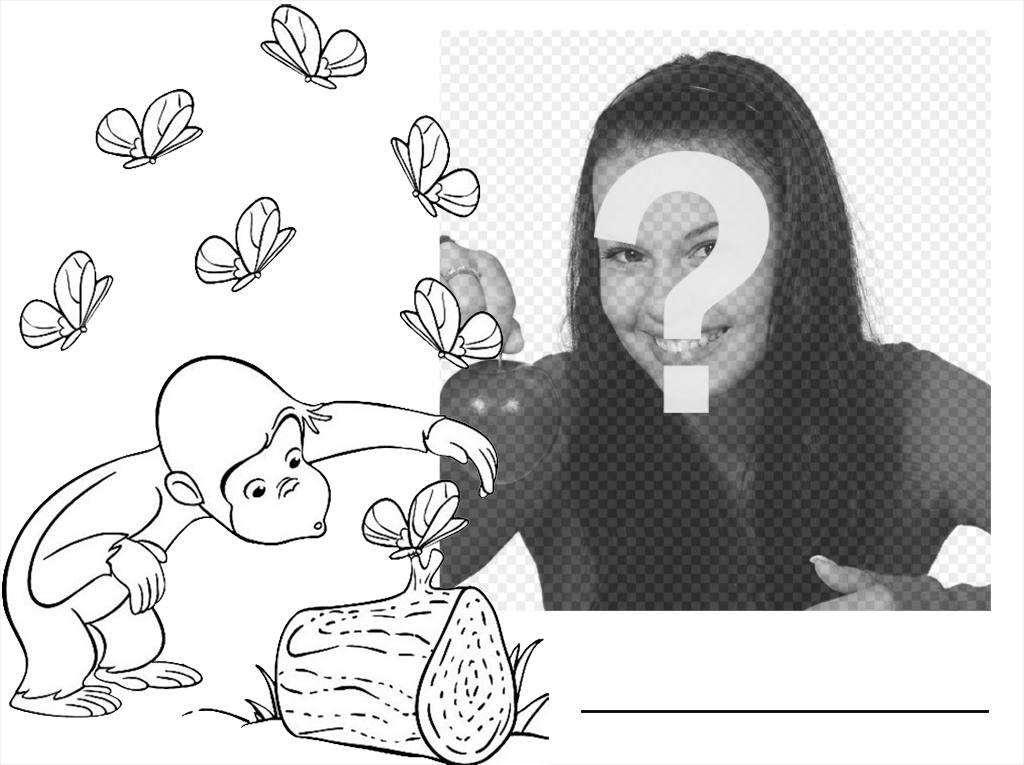 efecto editar foto luego colorear dibujo jorge curioso