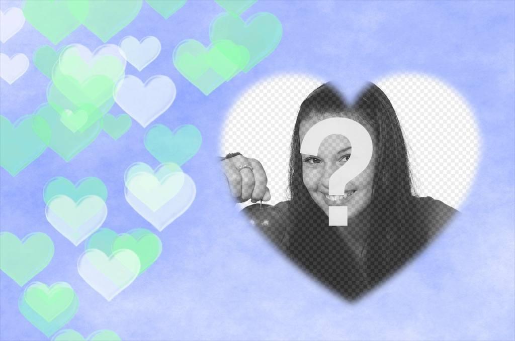 efecto corazones transparentes flotando puedes anadir foto