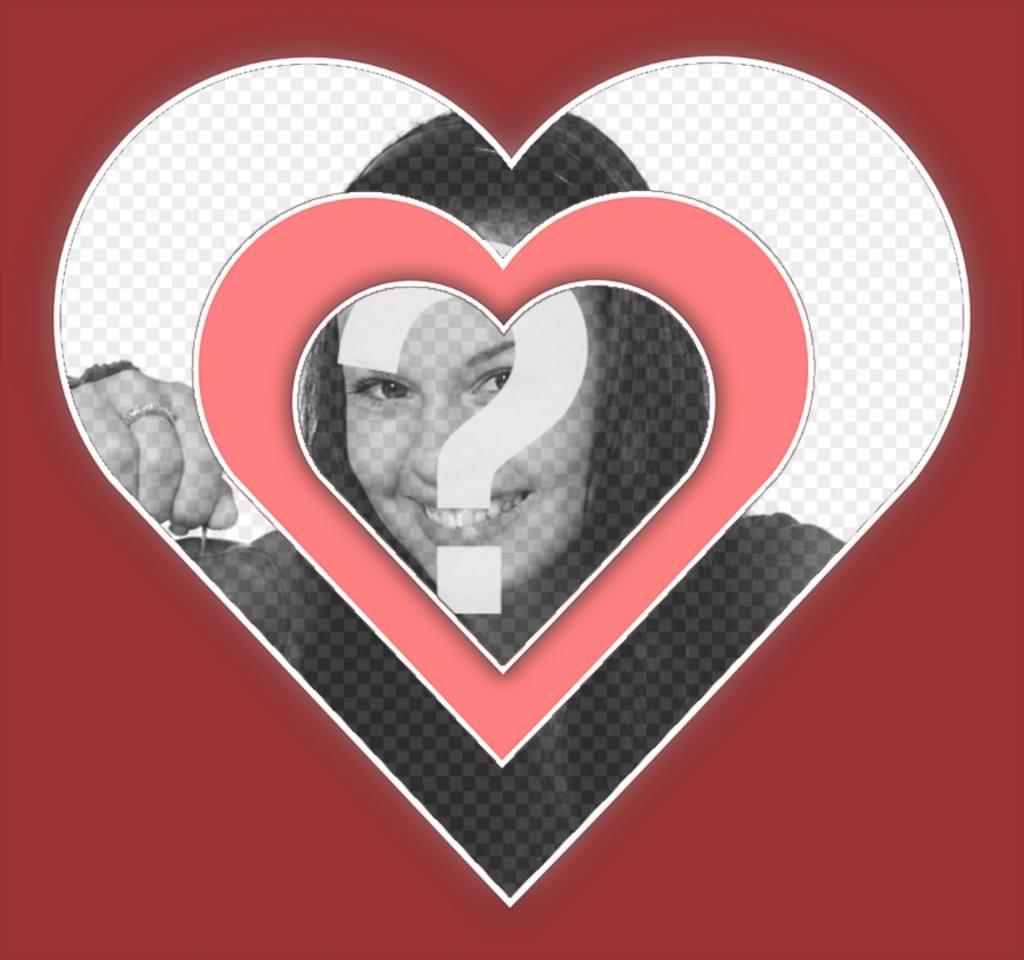 foto cuadro amor anadir foto un corazon efecto vibrante