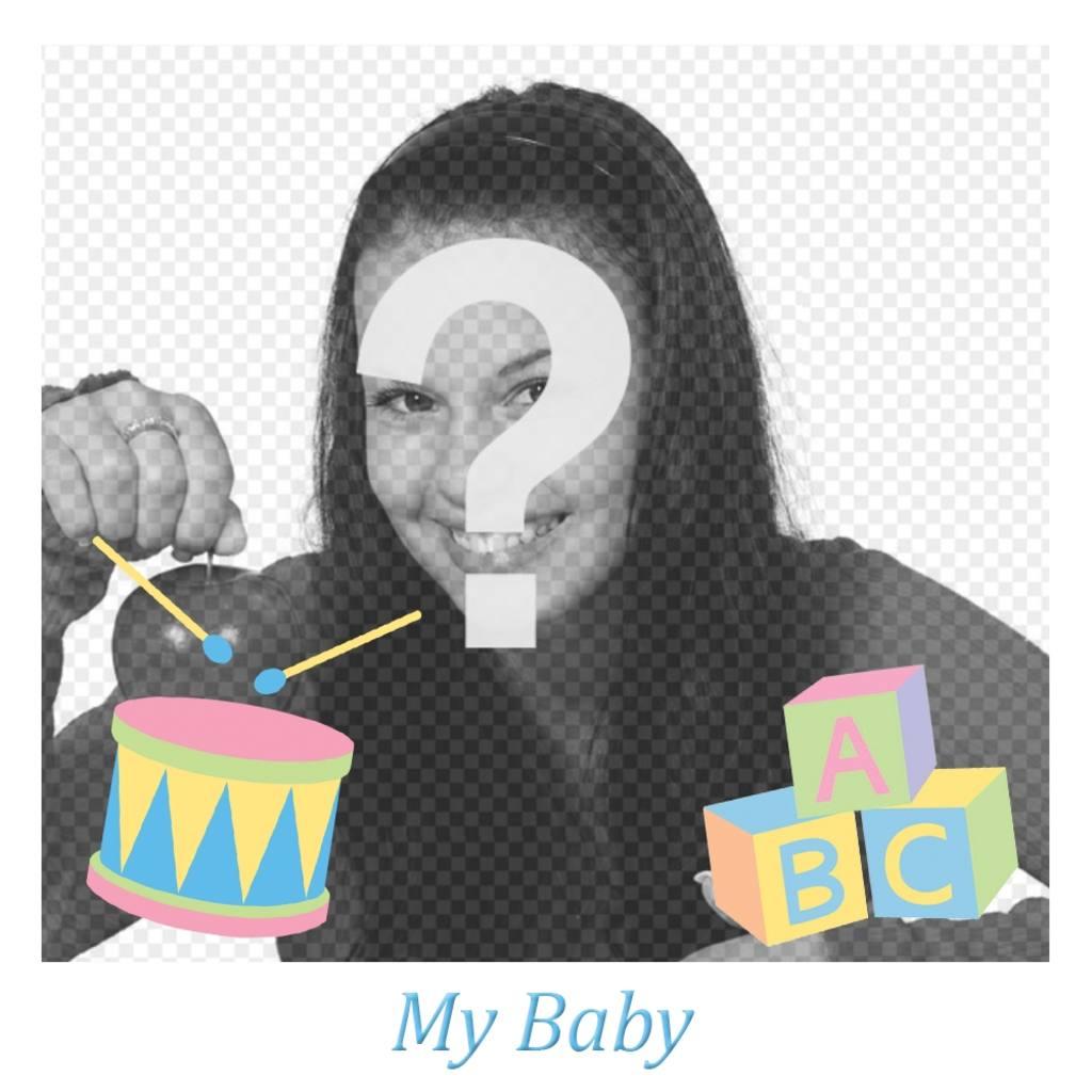 marco foto bebe juguetes infantiles decorar
