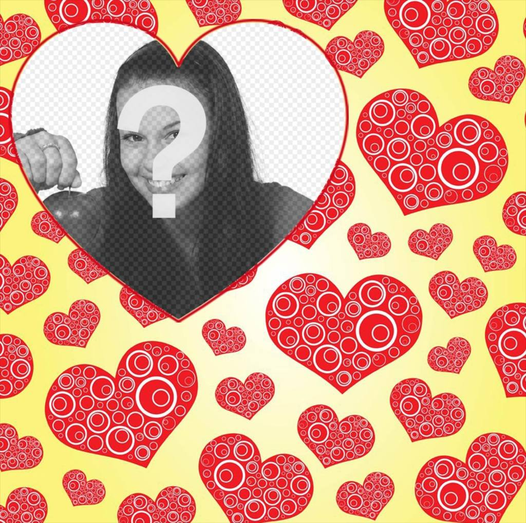 fotomontaje papel tapiz corazones anadir foto