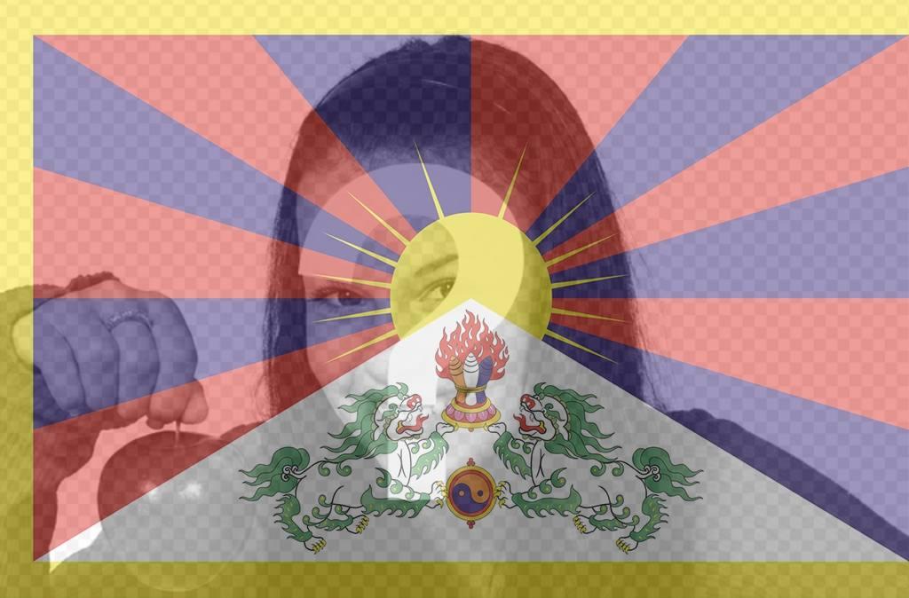 foto filtro bandera tibet puedes foto perfil