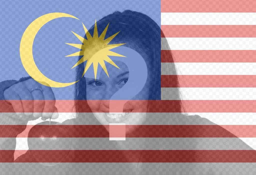 filtro virtual anadir fotos bandera malasia