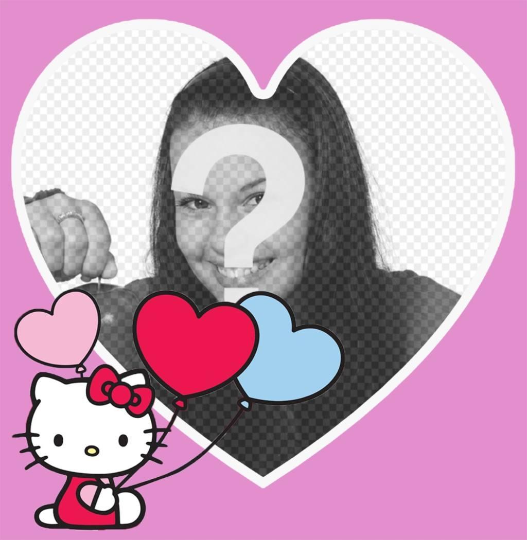 marco forma corazon foto hello kitty