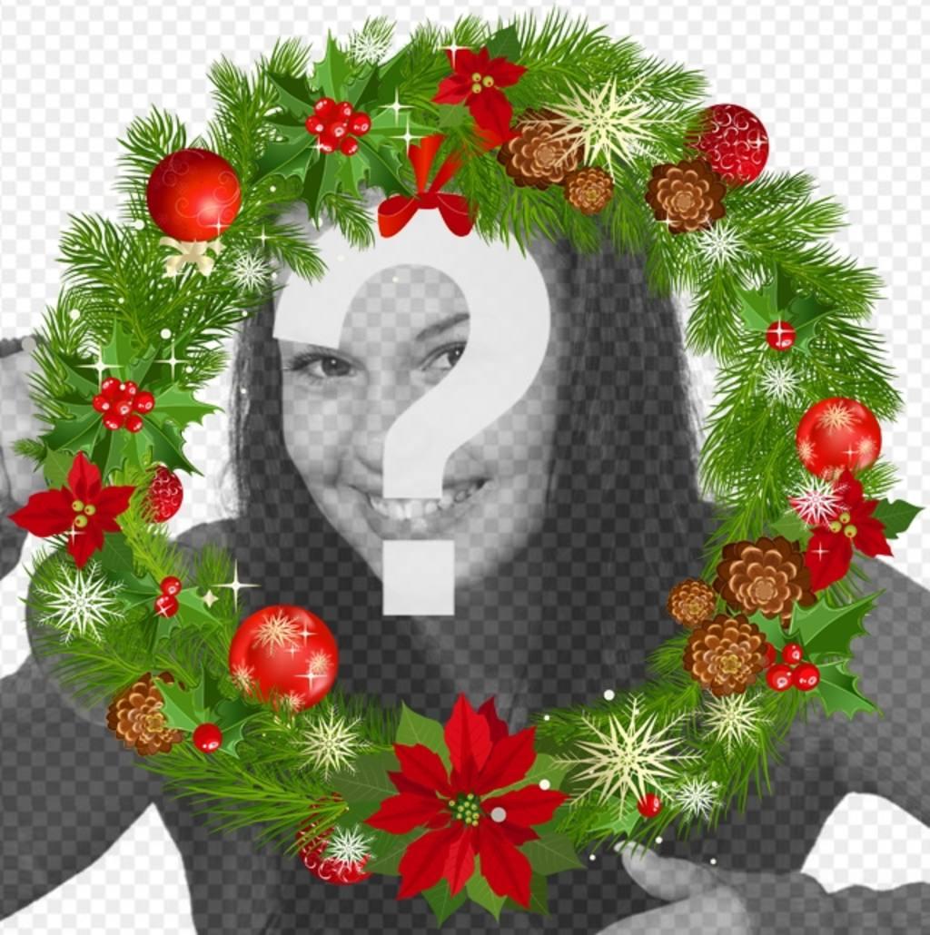 decora foto corona navidad redonda adornos navidenos