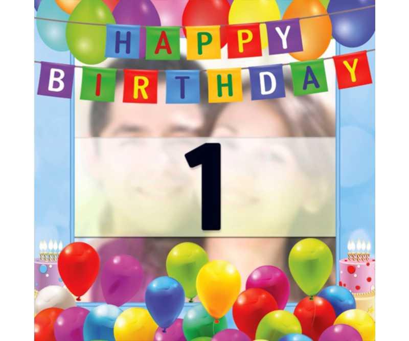 Tarjeta para felicitar un cumpleaños y personalizarla con una foto