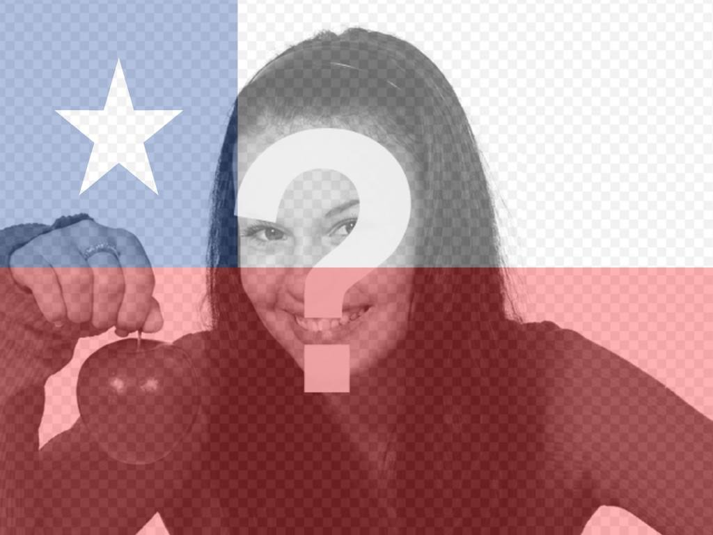 Fotomontaje para poner la bandera de Chile en tu foto para tu perfil de facebook o twitter