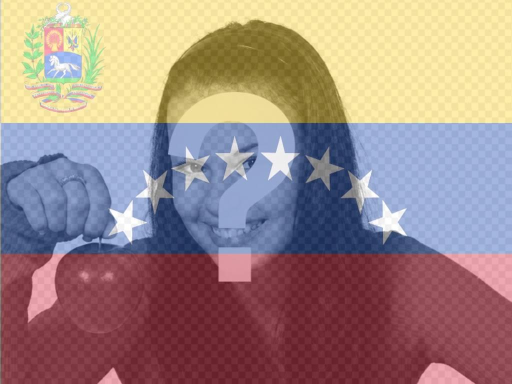fotomontaje bandera venezuela fondo
