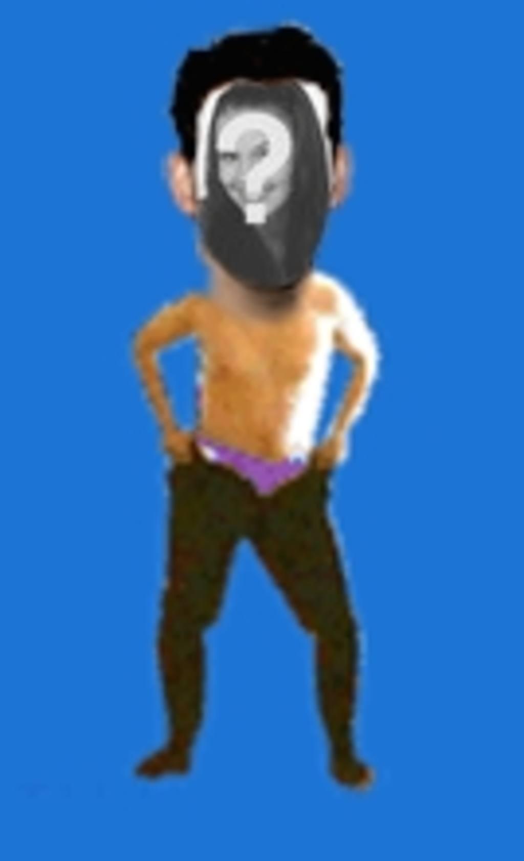 Fotomontaje animado en el que pones una cara al cuerpo de un chico bailando con pasión y sin camiseta