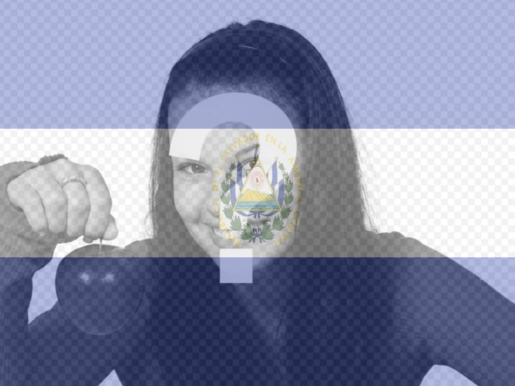 fotomontaje bandera salvador foto perfil