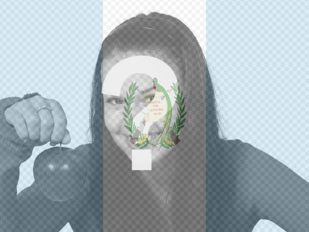 fotomontaje bandera guatemala podras poner imagen bandera guatemala foto
