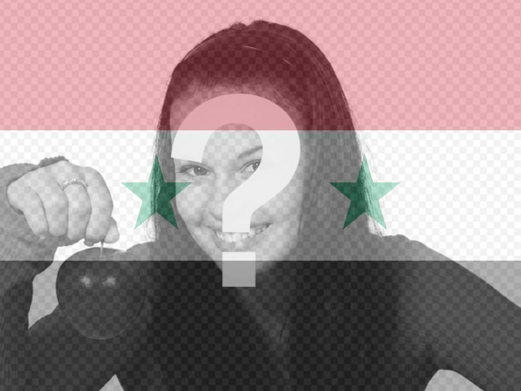 Fotomontaje de la bandera de Siria para tu foto