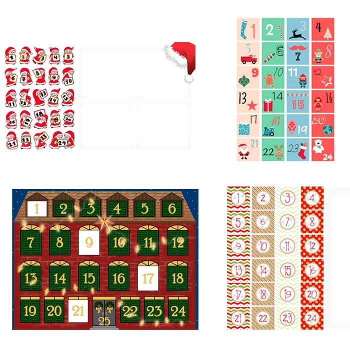Calendarios de adviento para personalizar con fotos - Calendarios navidenos personalizados ...