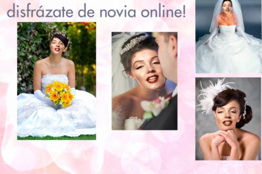 disfraz fotomontaje de novia de blanco