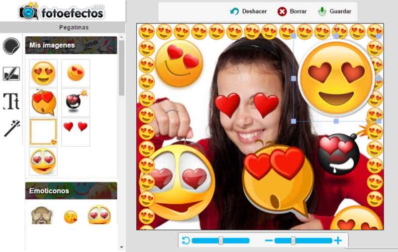 pon emojis de corazones en tu foto