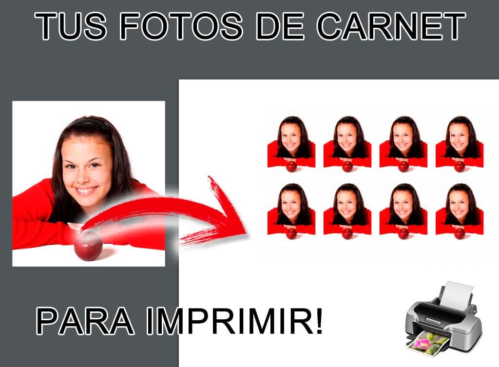 Crea tus fotos de carnet para imprimir online y gratis - Fotoefectos