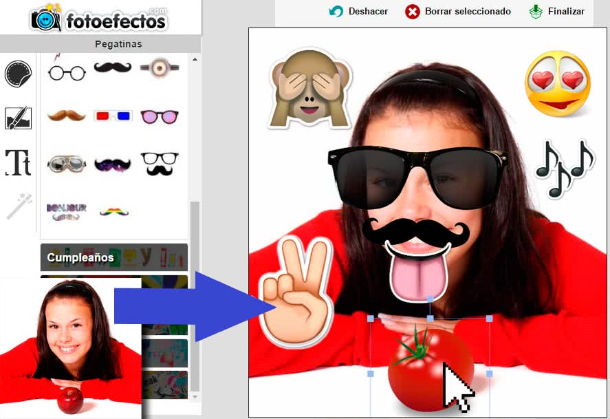 stickers online con tus fotos