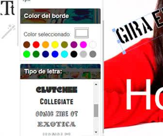 edita el tipo de letra y colores