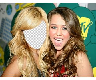 fotomontaje podras poner cara ashley tisdale miley cyrus