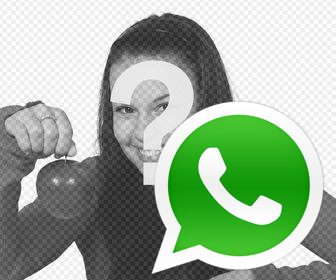 sticker logo whatsapp poner fotos