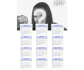 calendario 2017 pared puedes anadir foto