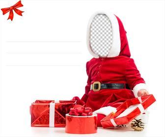 Pon tu cara en esta original tarjeta para regalar en - Tarjeta navidad original ...